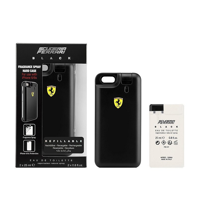 Ferrari Black Scuderia Set 2 Un 25Ml Mas Carcasa Iphone 6